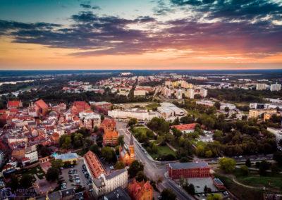 Dron Centrum miasta Torun
